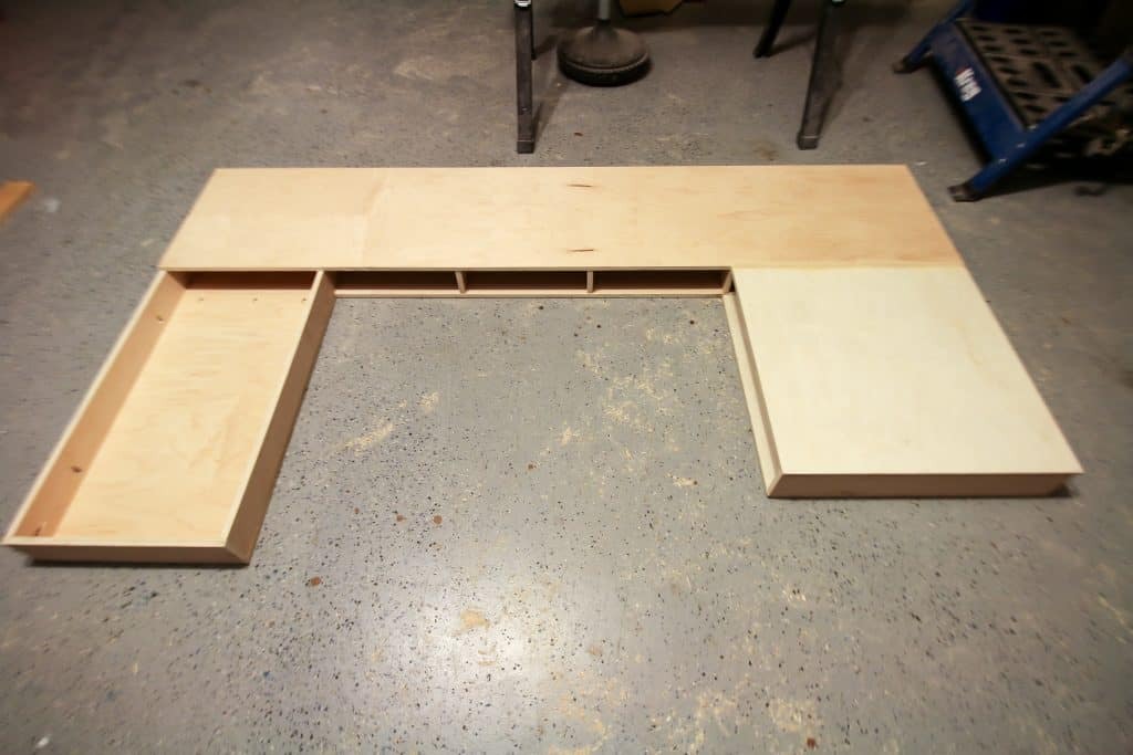 Top added to built in desk
