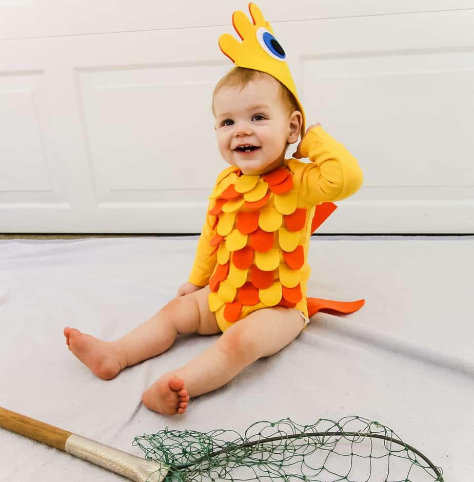 DIY baby fish costume idea