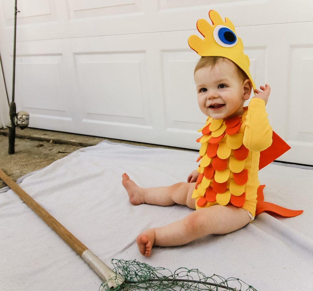 DIY baby fish costume idea