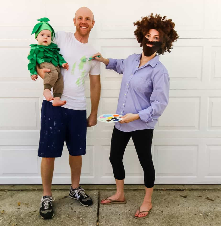 Bob Ross family costume idea