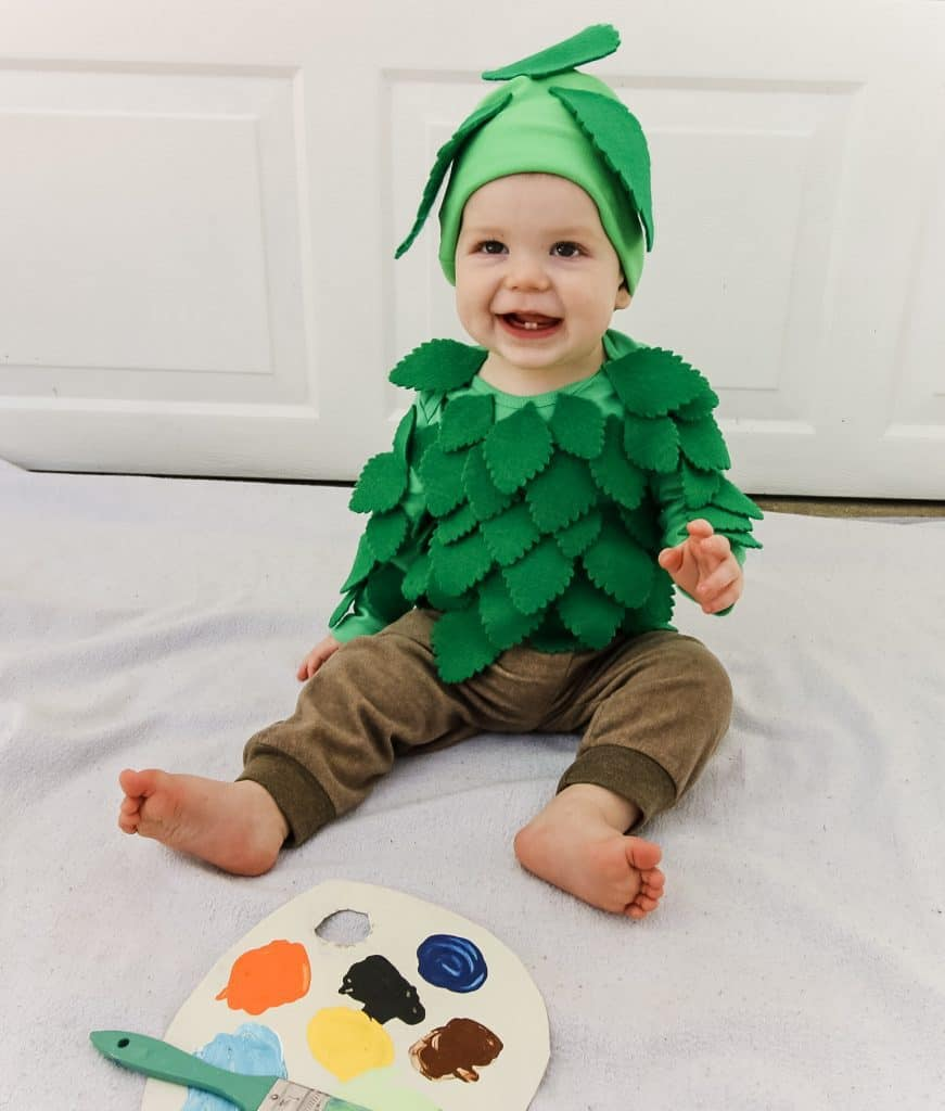 DIY Tree Costume for a Baby