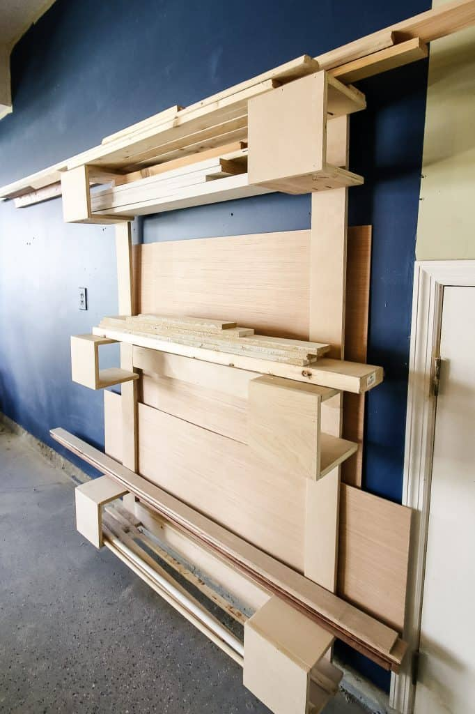 Vertical Scrap Wood Storage