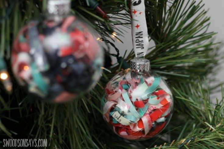 DIY Fabric Scrap Ornament Tutorial