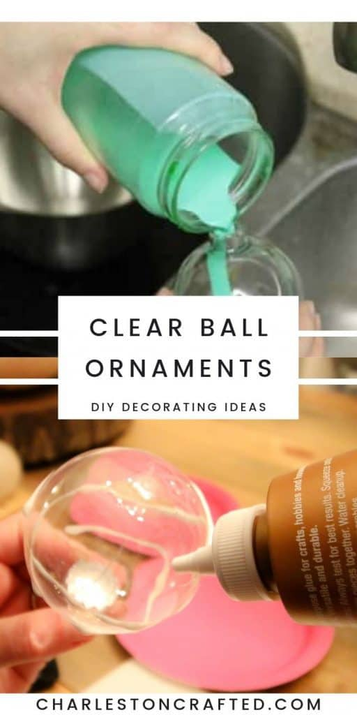 Clear Christmas ornament ball  decorating ideas