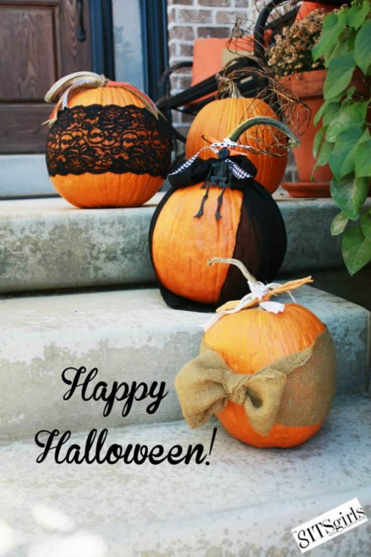 Fabric, Lace & Ribbon Pumpkins