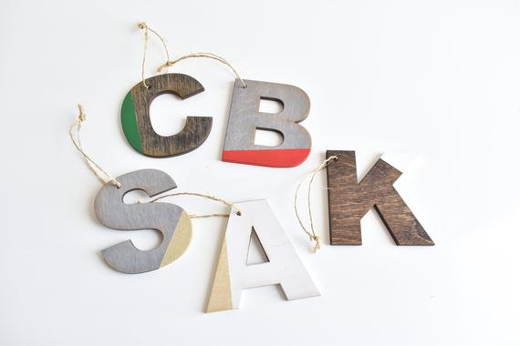 Modern Letter Christmas Ornament
