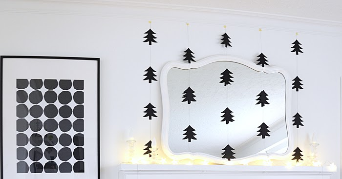 DIY: Modern Paper Tree Garlands