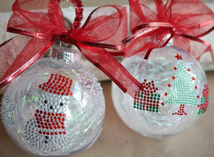 Simple Sticker Ornaments - Easy Kids Christmas Craft