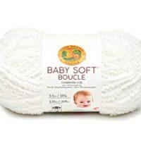 Baby Soft Boucle Yarn, White