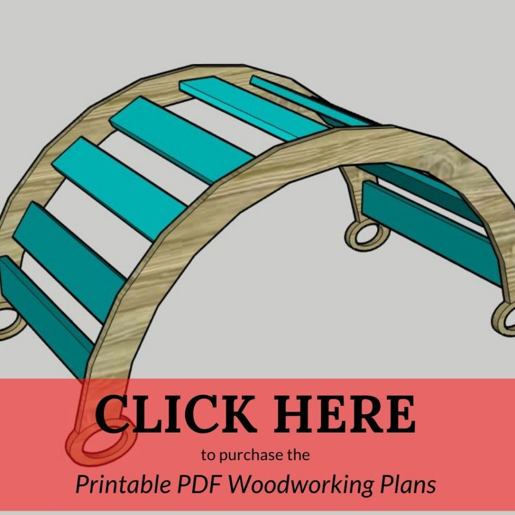 CLICK HERE to purchase the Printable PDF Woodworking Plans Pikler Arch