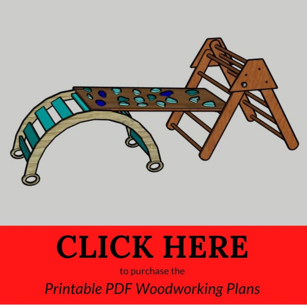 CLICK HERE to purchase the Printable PDF Woodworking Plans Pikler Bundle