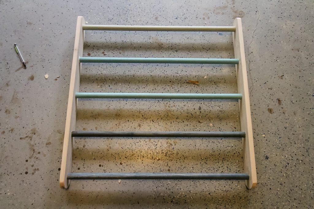 Final ladder of Pikler Triangle