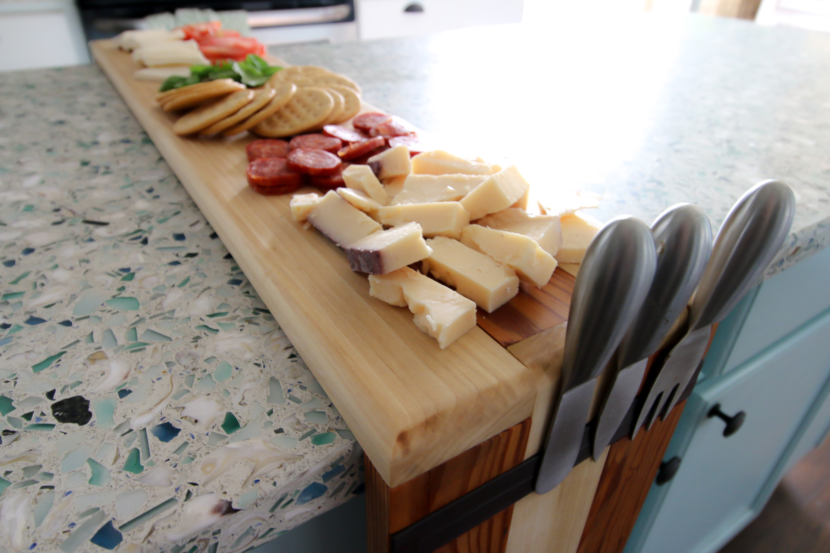 Waterfall Edge Cheese Board - Charleston Crafted