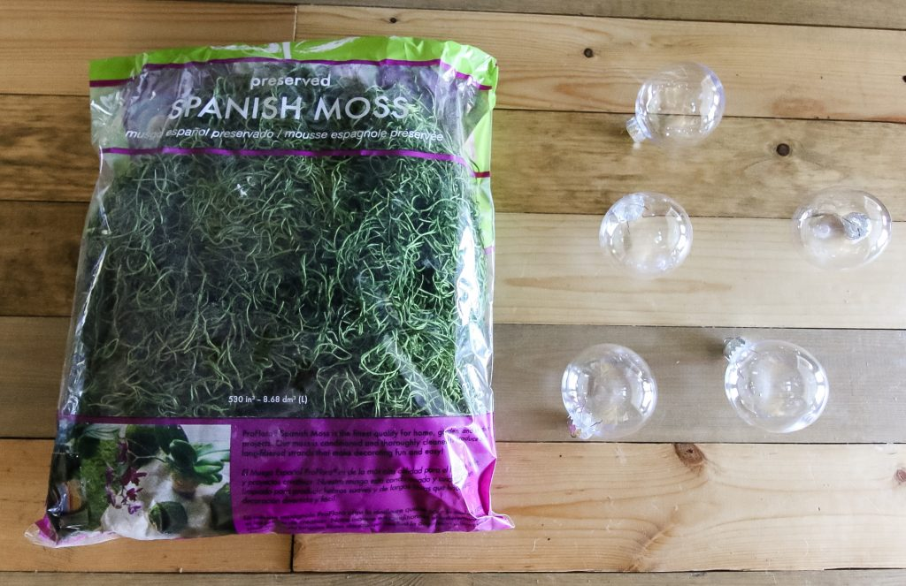 DIY moss ball Christmas ornaments