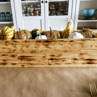 How to Build an Easy DIY Wooden Trough Centerpiece