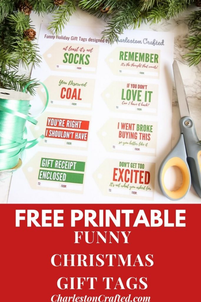 FREE Printable Funny Gift Tags