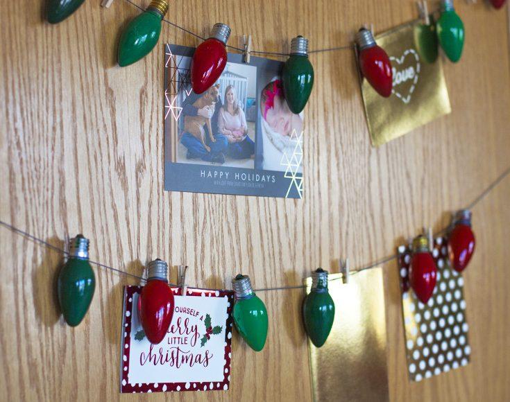A DIY Christmas Card Display