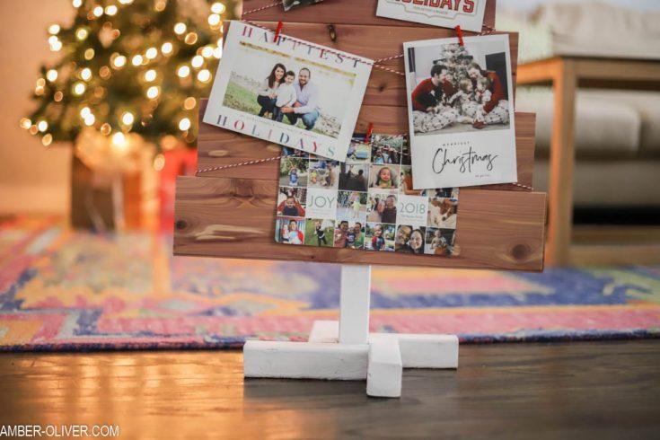 DIY Christmas Card Holder - Made with Cedar Planks!