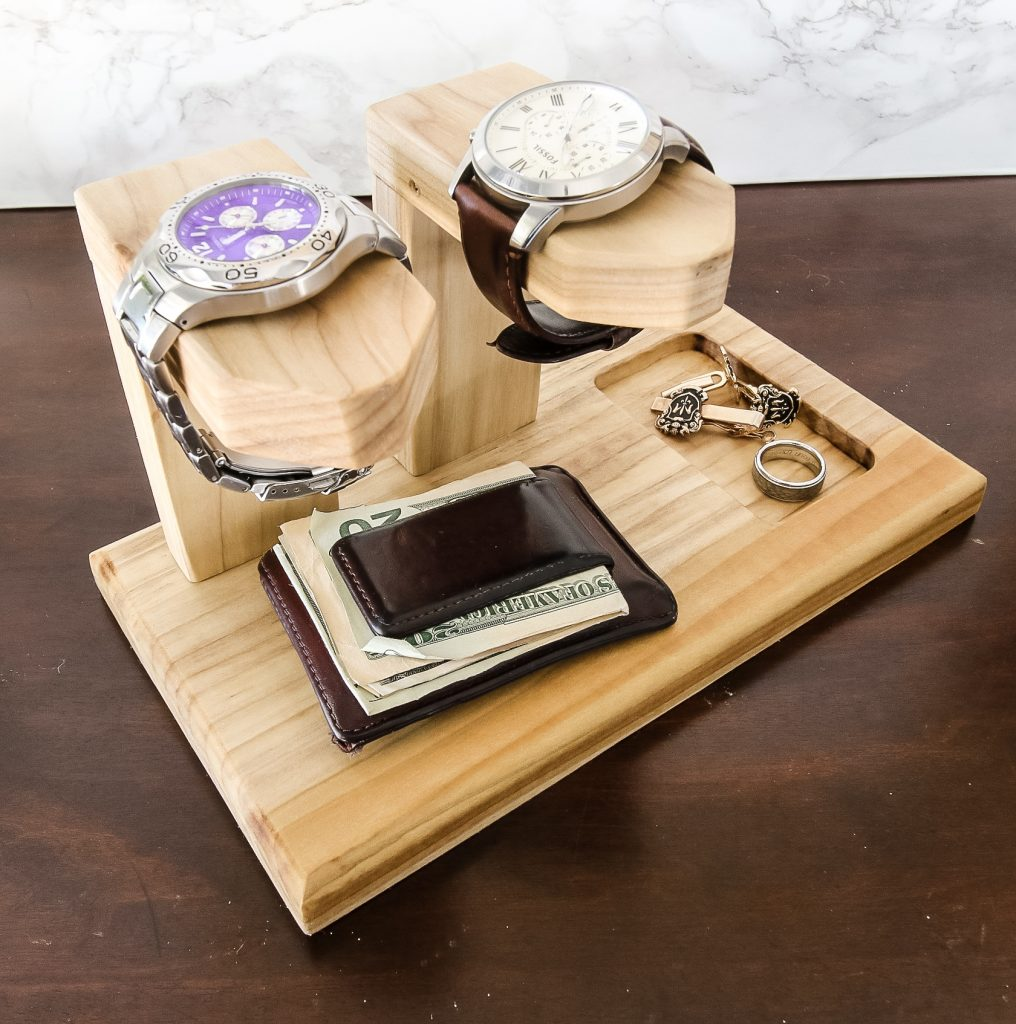 Watches and accessories on holder