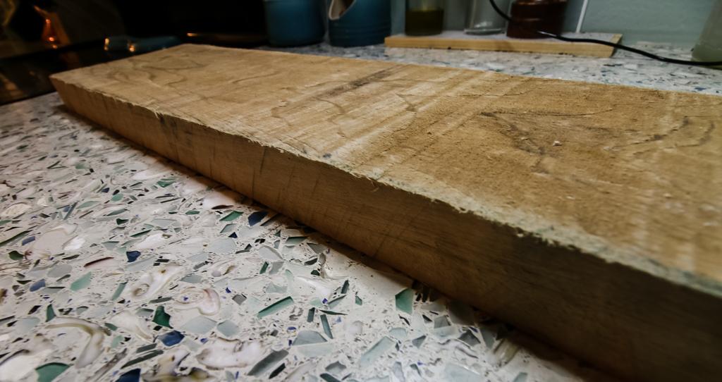 Starting slab of wood