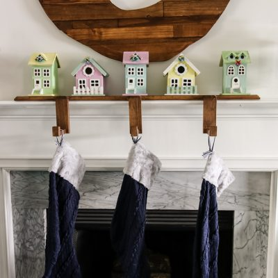 Wooden Stockings Holder