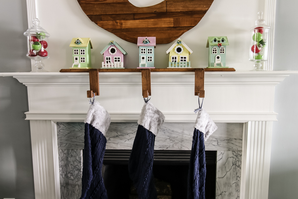 Wooden Stockings Holder - Charleston Crafted