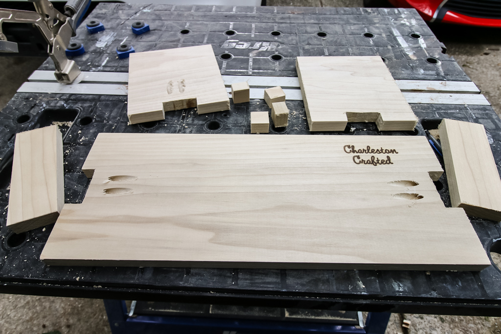Cuts for three tiered serving platter