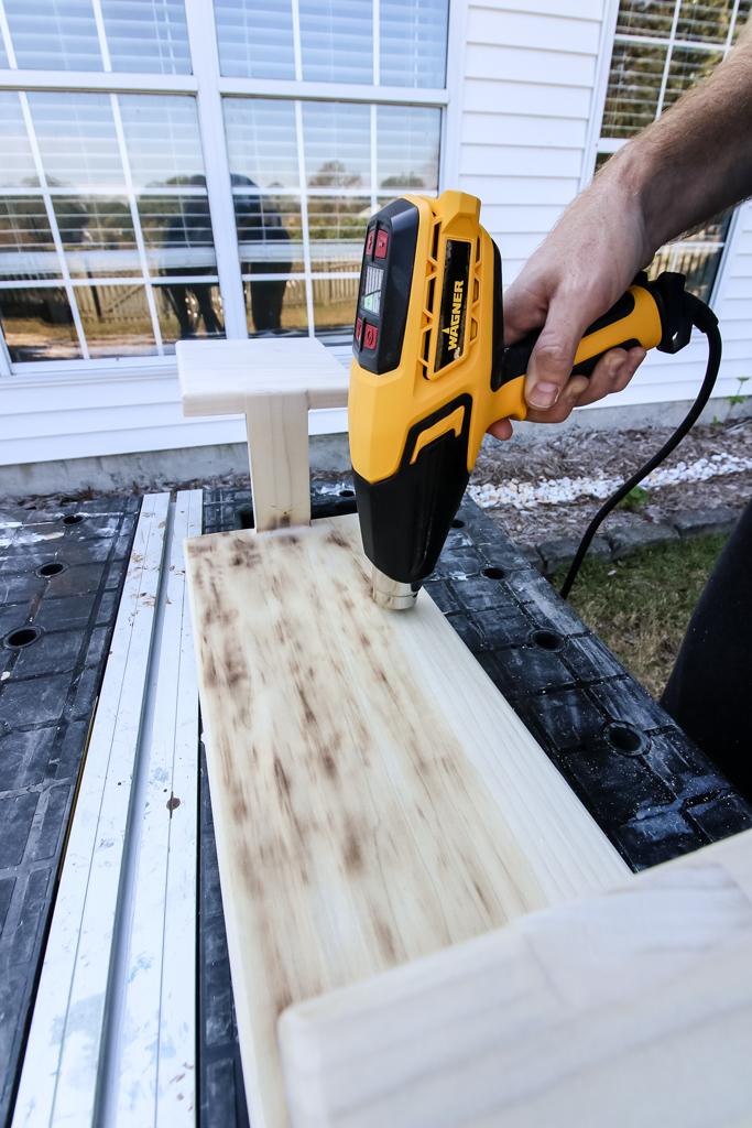 Wood Burned effect on platter