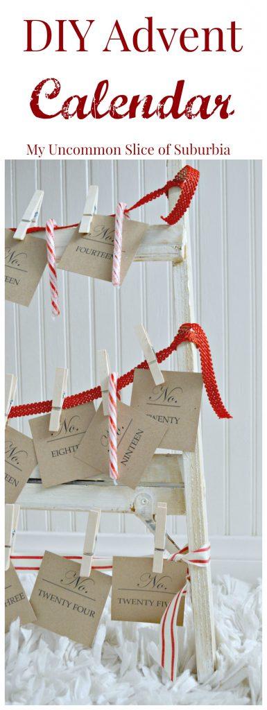 DIY Ribbon Christmas Card Display