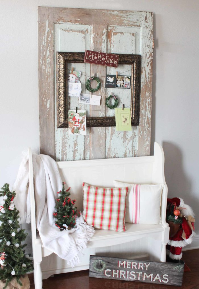Make Your Own Christmas Holiday Card Holder with a Frame