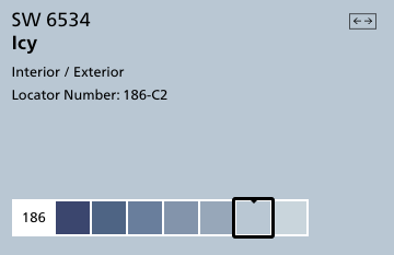 Icy by Sherwin Williams (SW6534)