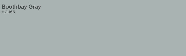 Boothbay Gray by Benjamin Moore (HC-165)