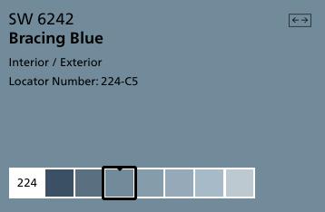 Bracing Blue by Sherwin Williams (SW 6242)