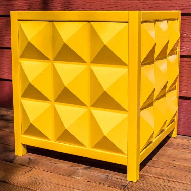 DIY Modern Outdoor Planter Box