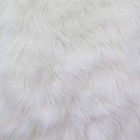 Faux Fake Fur Solid Shaggy Long Pile Fabric - White