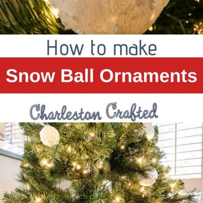 DIY Snowball Ornaments for your Christmas Tree