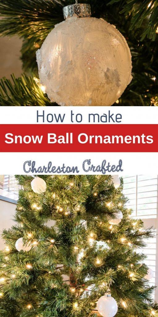 How to make snow ball Christmas tree ornaments