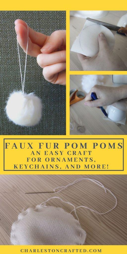 How to make a fur ball pom pom ornament