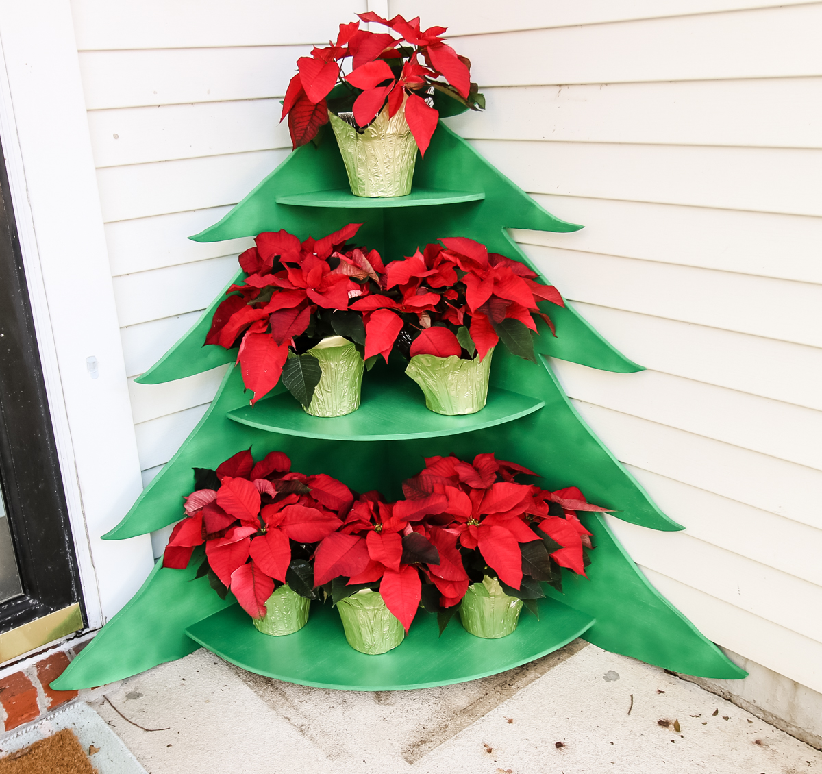 Christmas Tree Poinsettia Stand - Charleston Crafted