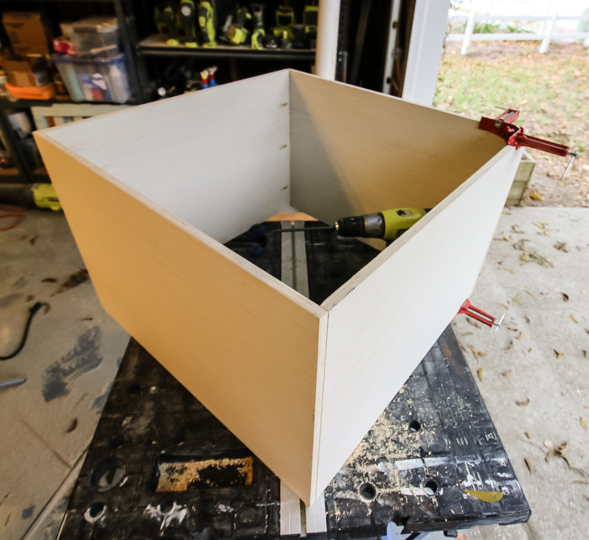 Box frame built