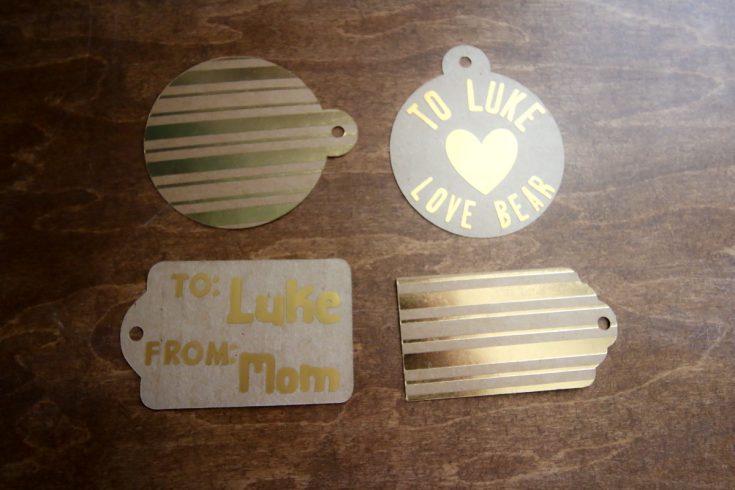 custom gift tags made with cricut