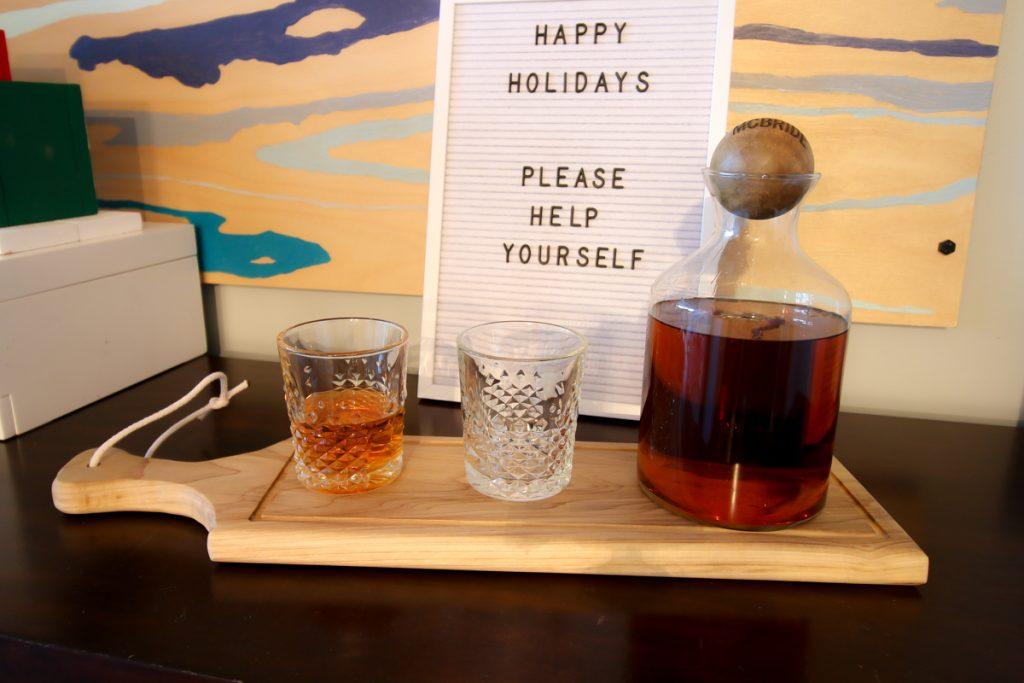 Staged Scotch Tray