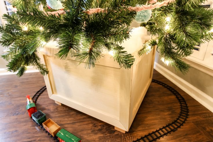 How to Build a Christmas Tree Box Stand - Charleston Crafted