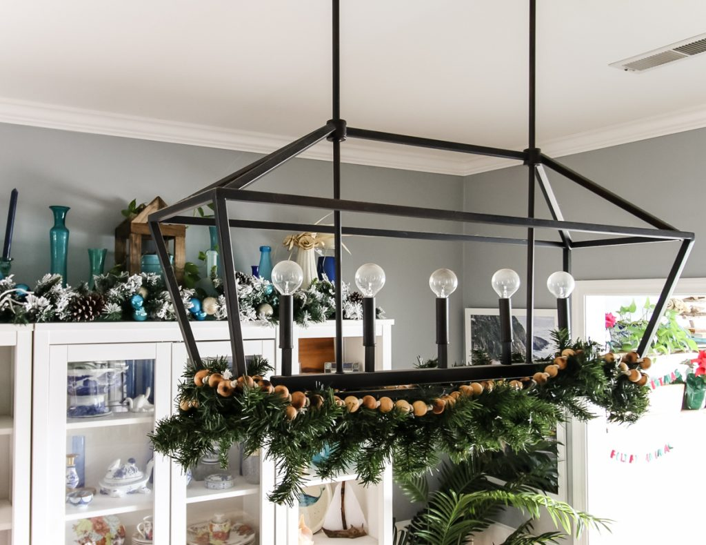 Garland over dining table