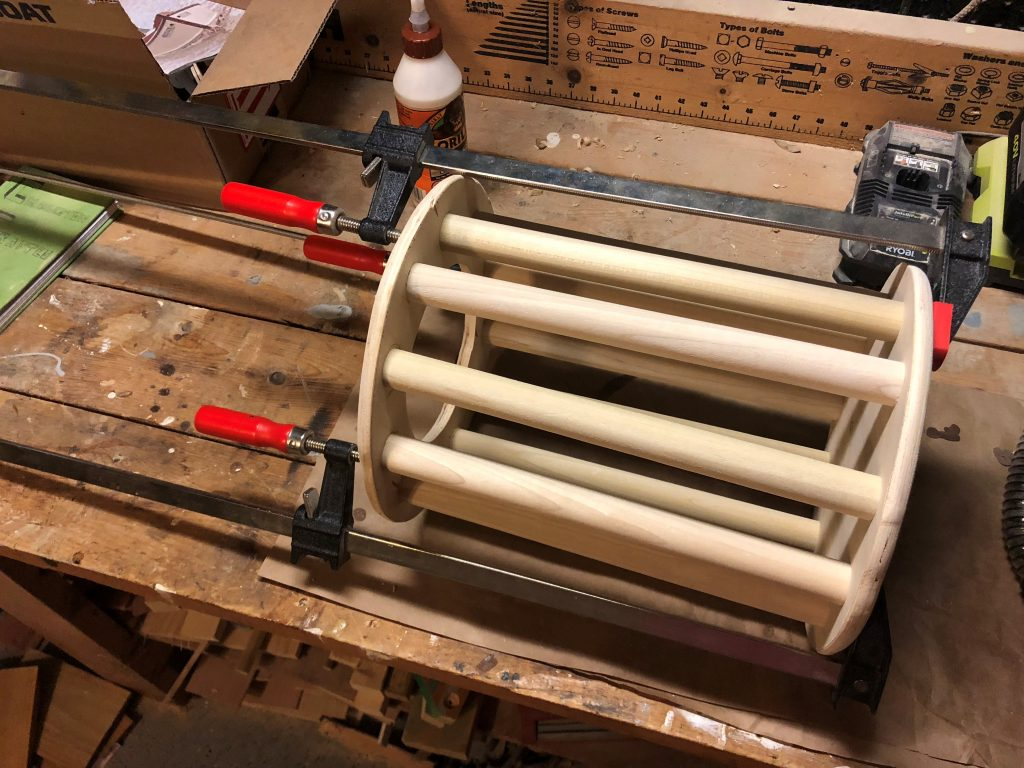 Mega Bloks Holder clamped together