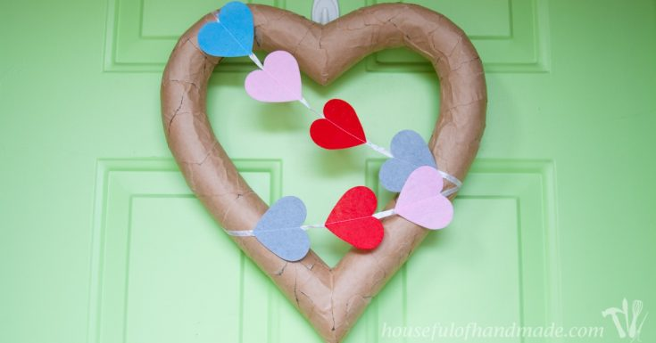 $3 Rustic Valentine's Day Heart Wreath
