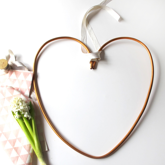 Copper Heart Wreath DIY