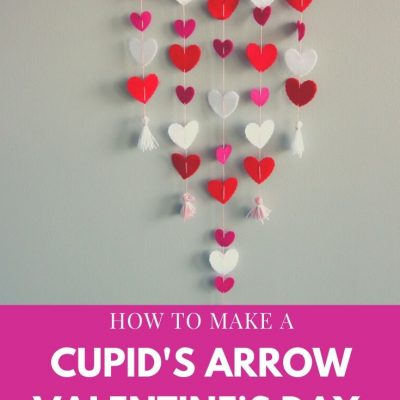 How to Make a Cupid's Arrow Valentine's Day Wall Hanging with felt on the Cricut