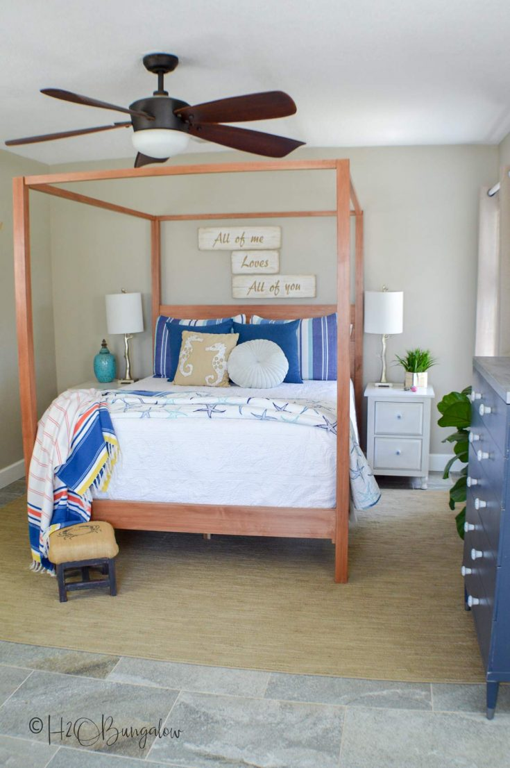 DIY Queen Bed Frame Plans Tutorial