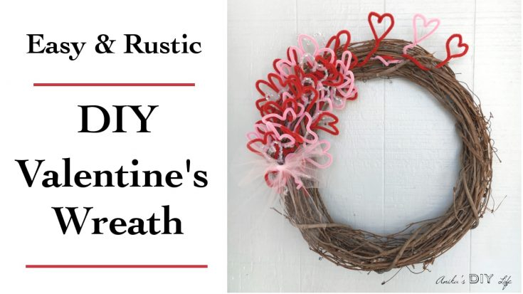 DIY Valentines Day decor: Wreath under $5